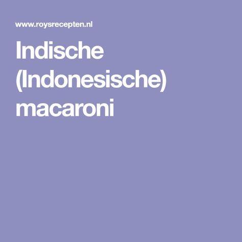 Indische (Indonesische) macaroni