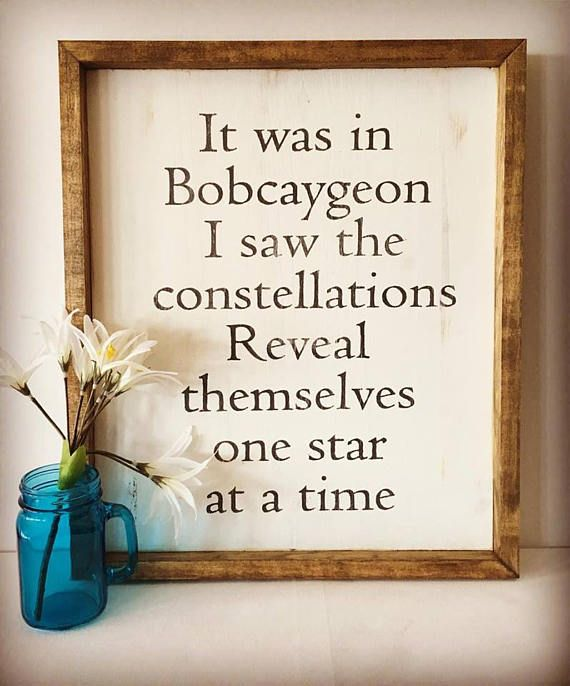 Bobcaygeon+The+Tragically+Hip+Inspired+Wall+Sign