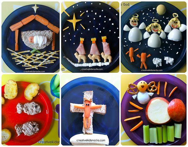 Lunchideeën tijdens de Feestdagen -  Lunches to Teach Kids About Jesus - Creativekidsnacks.com - (zie ook notitie van de maakster).