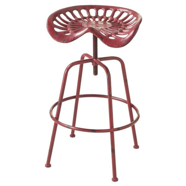 Tractor Stool 165.00 Distressed red adjustable height stool with tractor seat.  sc 1 st  Pinterest & 29 best Old Tractor Seats images on Pinterest | Tractor seat bar ... islam-shia.org