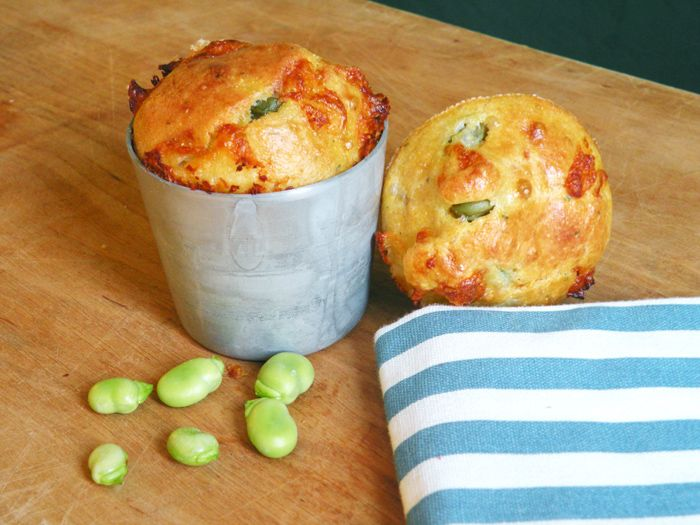 La petite cuillère: Muffin di fave e pecorino