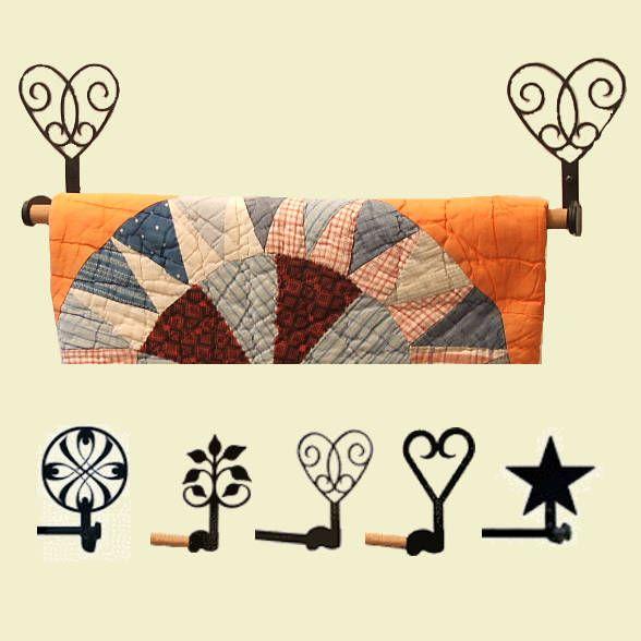 wrought iron quilt hangers quilt