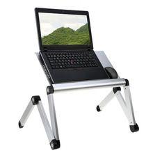 Bandeja De Mesa portátil Dobrável Ajustável Laptop Stand com Furo De Refrigeração Multi Angle 17in Notebook Tablet Pad Lapdesk para Cama Sofá(China (Mainland))