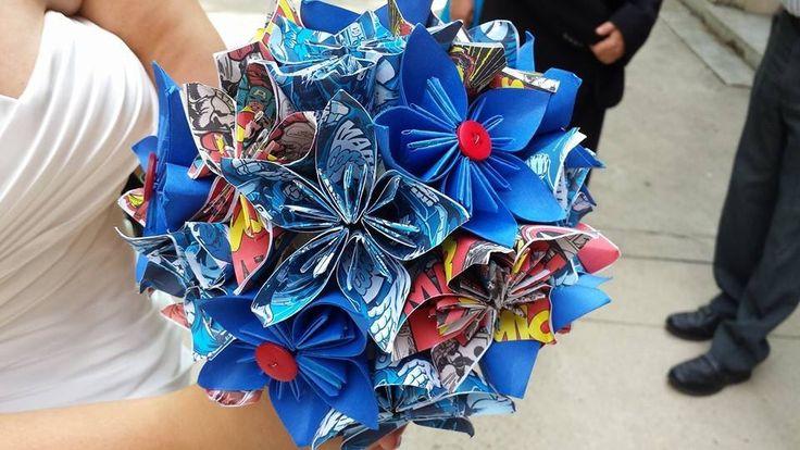 Paper flower comic bouquet