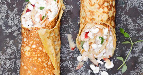 Tunna omelettrullar med äpple och keso | Recept från Köket.se