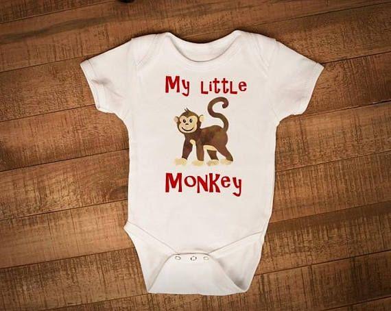 Check out this item in my Etsy shop https://www.etsy.com/ca/listing/538774599/monkey-onesie-zoo-onesie-safari-onesie