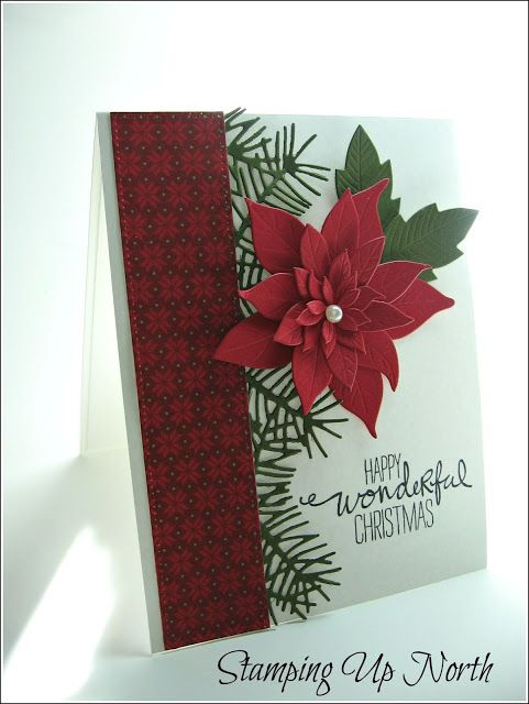 stamping up north with laurie: Stampin Up.... Happy Wonderful Christmas (sentiment from Stampin' Up's Wondrous Wreath)