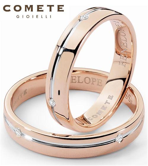 #Gioielli Comete. Fede Penelope e Ulisse con diamanti e oro rosa