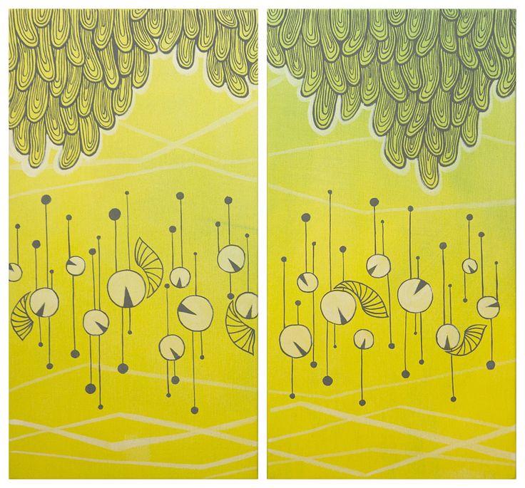 Pittura   Elisa Viotto   greeny   acrylic on canvas
