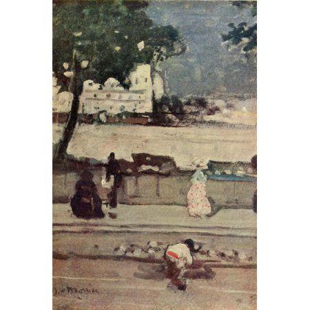 The Studio 1913 Quai des Grands Augustins Paris Canvas Art - James Wilson Morrice (24 x 36)