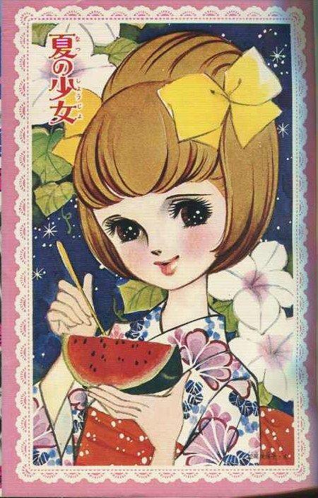 Big Eyed Flower Themed ...[]... Art by Matsuo Mihoko