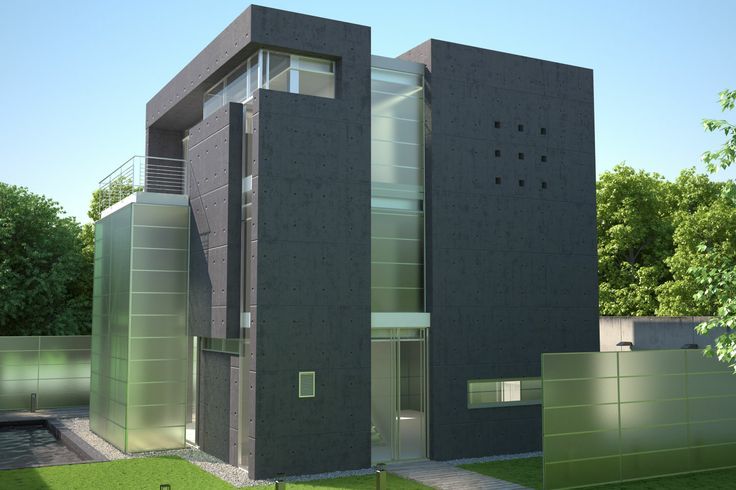 Visualisation of concrete house
