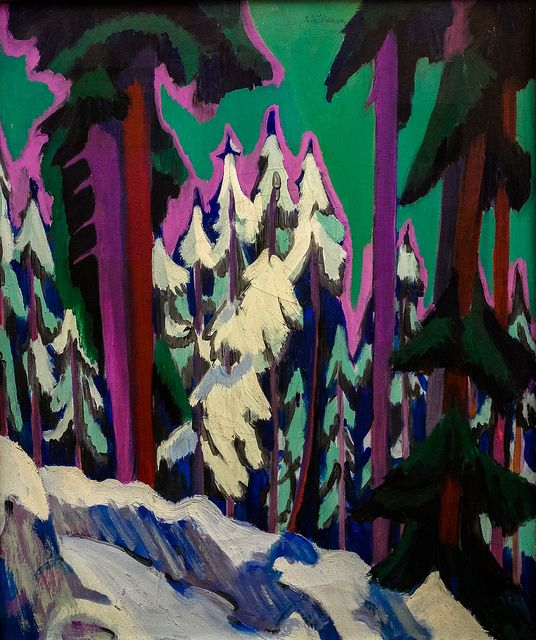 Ernst Ludwig Kirchner - Forest in Winter - Davos-Frauenkirch, 1926 at Museum Ludwig Cologne Germany.
