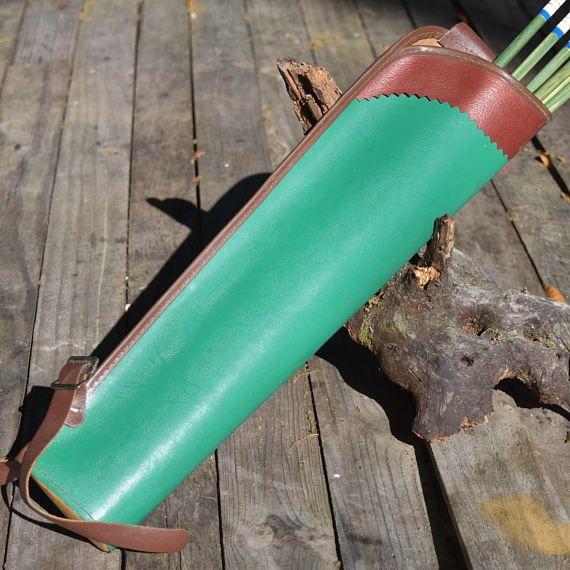 Archery quiver Vintage green back quiver green arrow quiver