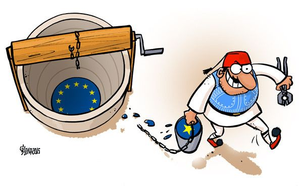 Cartoon / Greece and the European Union
