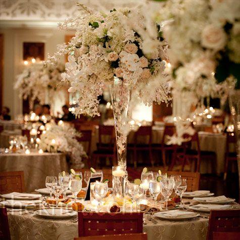 170 best images about centerpiece trumpet vase on for Elegant table centerpieces