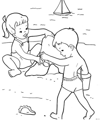 Printable Beach Coloring Pictures
