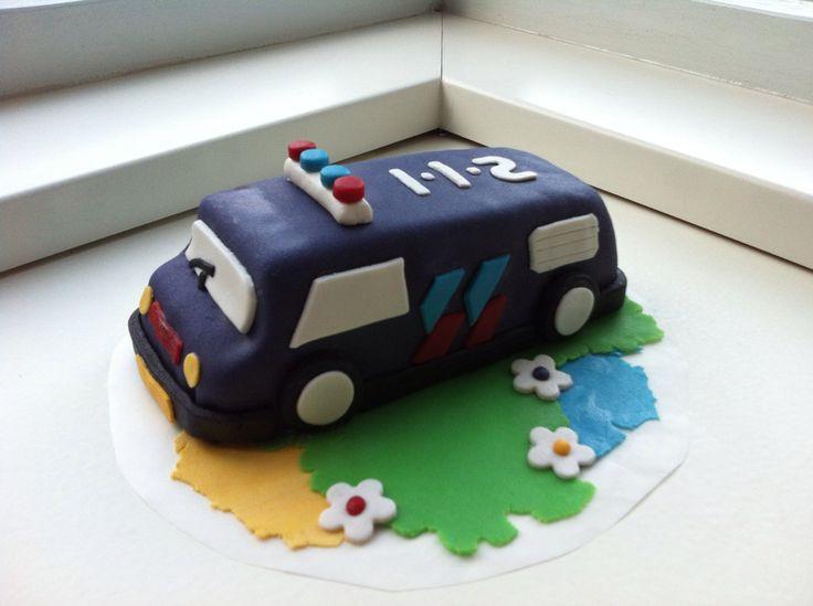 Politieauto taart