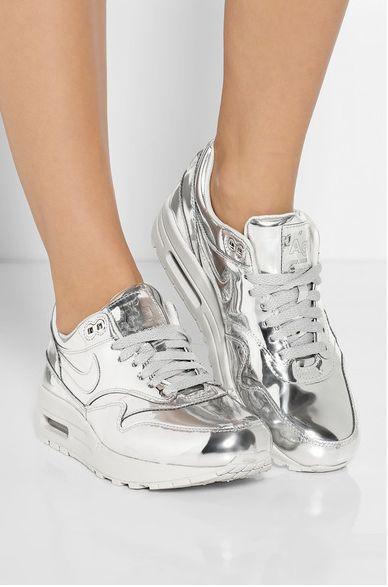 Want the bronze sooo freaking bad but the silver still bangs ❤ Nike Airmax Liquid Metal Silver