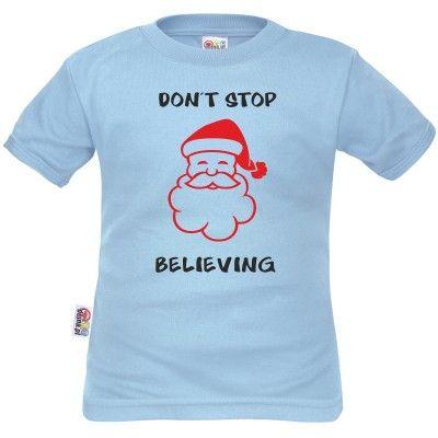 T-shirt enfant Noël : DON'T STOP BELIEVING (m. courtes ou longues)