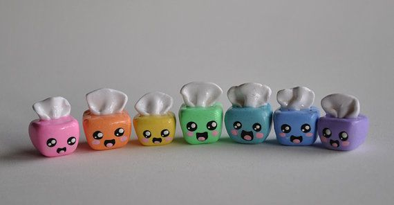 Cute Polymer Clay Tissue Box Charm