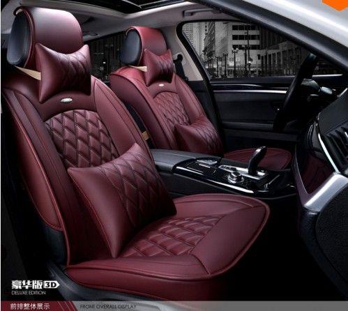 Nuevo estilo de Cuero de Lujo 5 color 3D Fundas de Asiento de Coche delantero y Trasero Conjunto Completo para Cuatro Estaciones Universales 5 Asiento coche