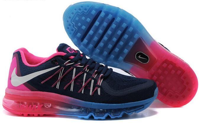 Beautiful Nike Air Max 2015 PRE Ženy Topánky Námornícka Modrá Ružová Hot Predaj: Air Max 90 Nike
