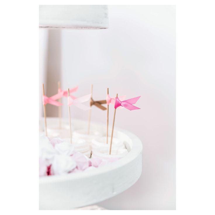 Διακοσμητικά στικ με κορδελάκια ροζ/φούξια/χρυσά