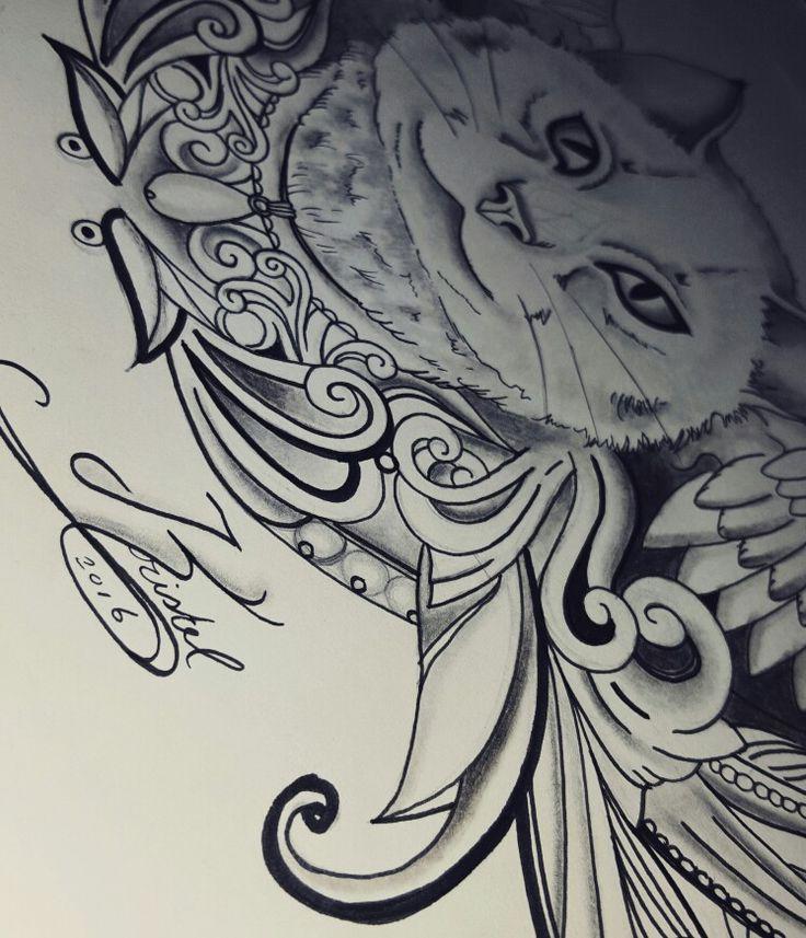 Cat tattoo ideas design kristel peters