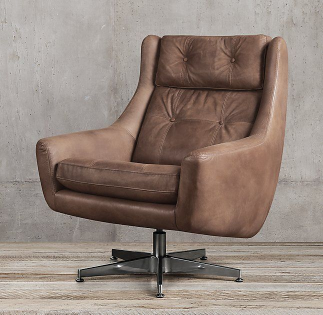 Motorcity Leather Swivel Chair from RH. This chair also beautiful. Would need ottoman.