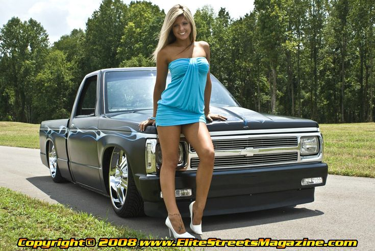 Lainie Miller And A Lowered Chevy S 10 Girls Amp Lowered