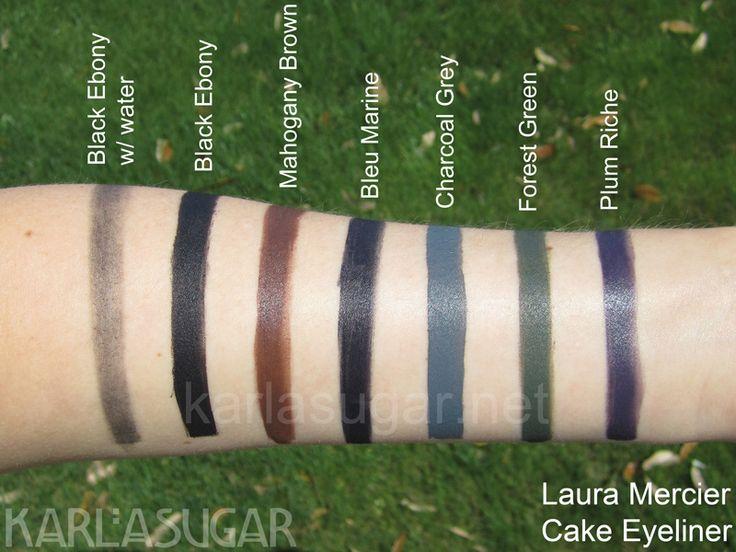 Laura Mercier Cake Eyeliner (use with Sonia Kashuk bent eyeliner). Love the 'Bleu Marine' color!