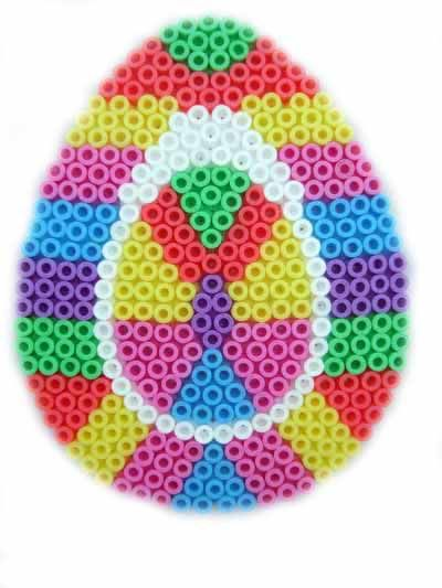Hama perler bead Easter Egg by beadmerrily