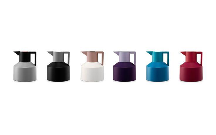 Geo Vacuum Flask   A retro inspired theomos in White nuances