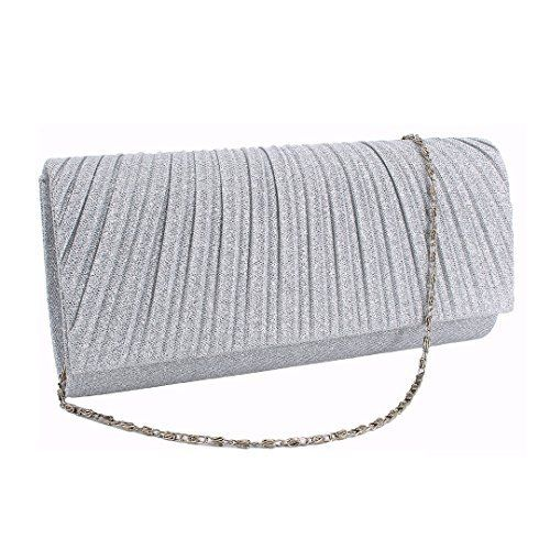 New Trending Shoulder Bags: La moriposa Women Elegant Metallic Glitter Twinkle Flap Clutch Evening Bag Cross Body Bag(Silver). La moriposa Women Elegant Metallic Glitter Twinkle Flap Clutch Evening Bag Cross Body Bag(Silver)  Special Offer: $15.99  444 Reviews You'll be the party girl with the right accessory!Size: 9.1 X 2 X 4.3in(L*W*H); Novel outer worsted material with shining powder, inner material...