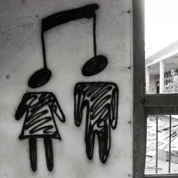 Music unites all barriers!  Even the biggest one of all Male and Female