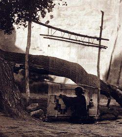 Navajo weaver Edward Curtis