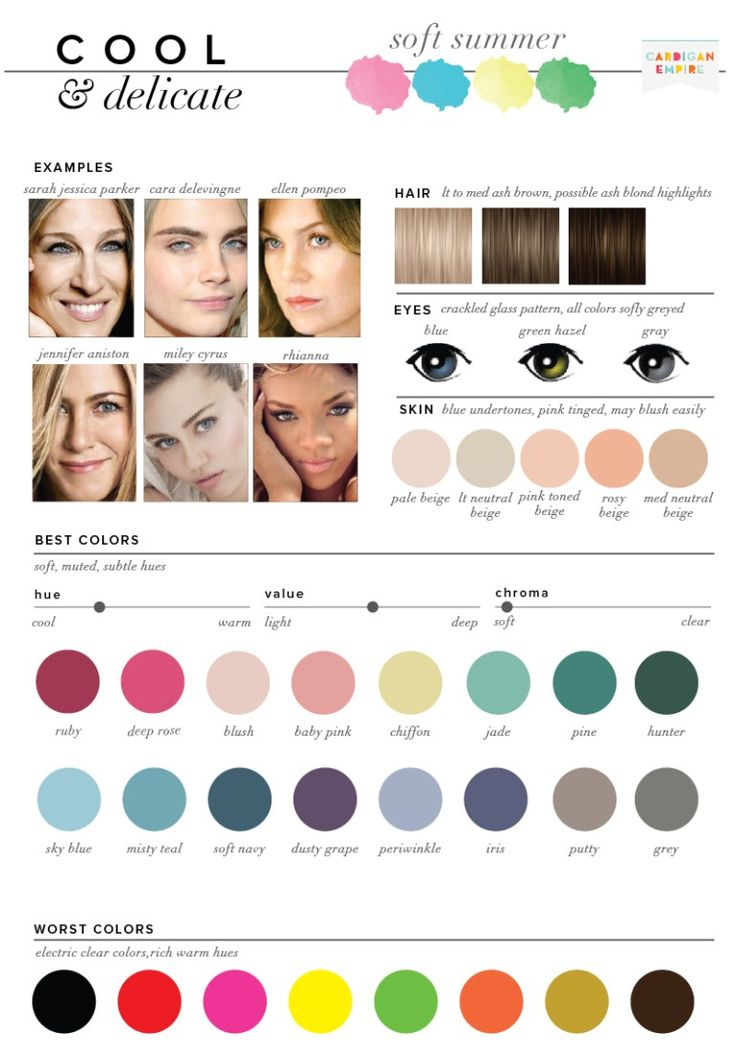 433 Best Soft Summer Color Swatches Images On Pinterest