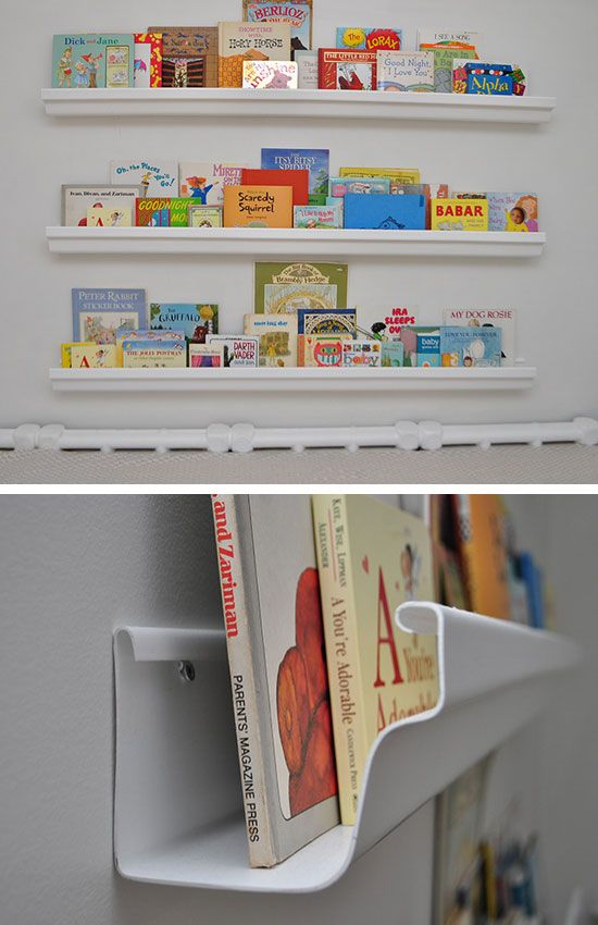 Raingutter Bookshelf | Click Pic for 20 DIY Decorating Ideas for Girls Room | DIY Bedroom Decorating Ideas for Girls