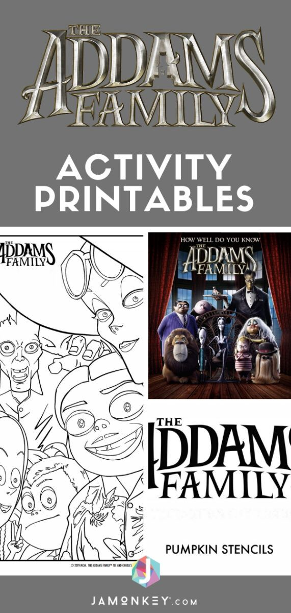 The Addams Family Activity Printables Win The Movie In 2020 Family Birthdays Family Coloring Pages Addams Family