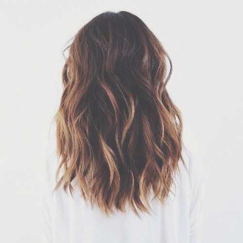 hair goals: shoulder length wavy hair                                                                                                                                                     More