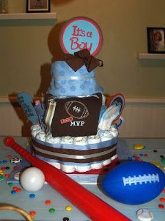 Marie's Make and Mend: football diaper cake