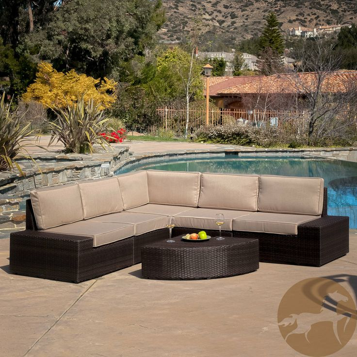 Christopher Knight Home Santa Cruz Outdoor Brown Wicker Sofa Set by Christoph
