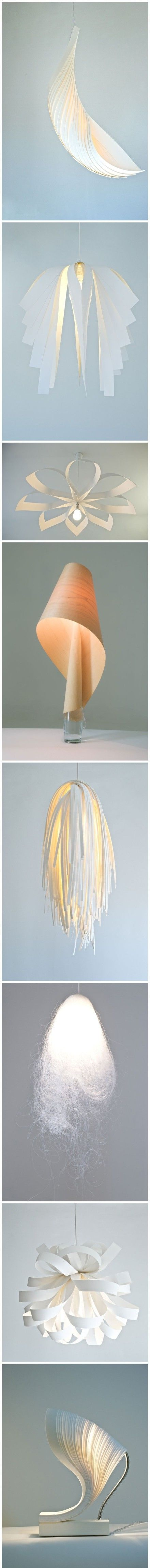 This lampshade looks very unique and similar to a leaf. This is why i like it because it projects light down it.