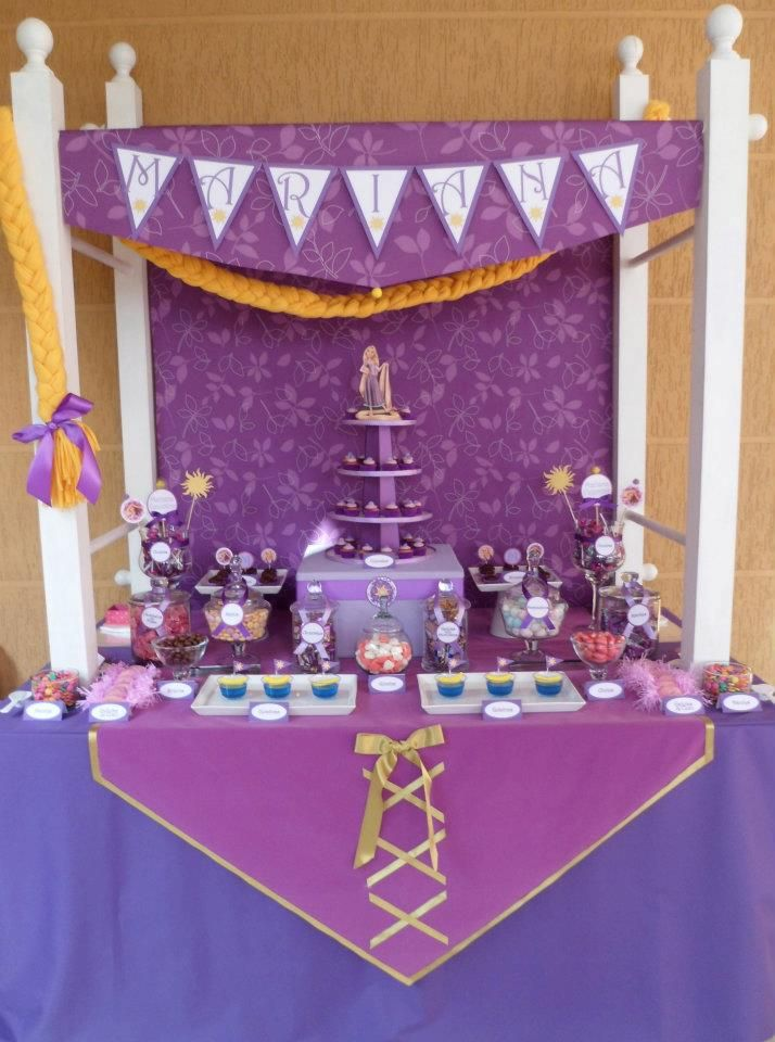 Hermosísimo Candy Buffet de Rapunzel!!