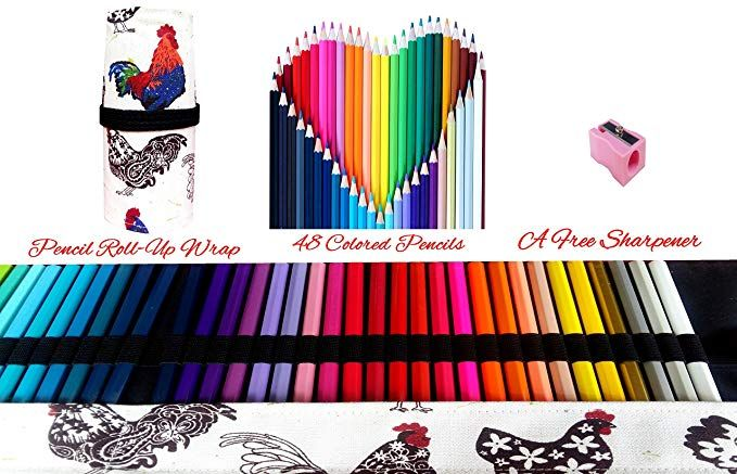 Amazon Com Colored Pencils Art Supplies For Kids Adults Coloring Book With Canvas Case Roll Up Wrap Bag And Kids Art Supplies Color Pencil Art Coloring Books