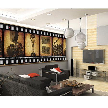 Giant film strip wall decoration.