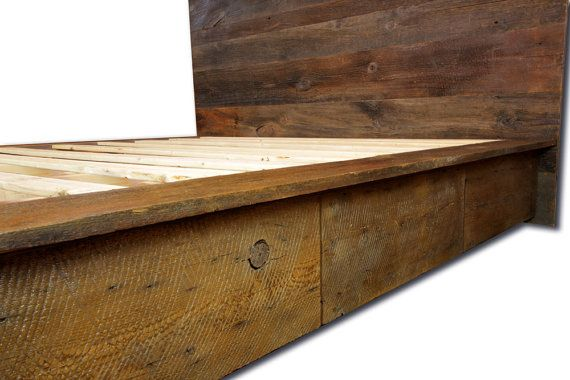 Four Drawer Reclaimed Wood Urban Platform by ...