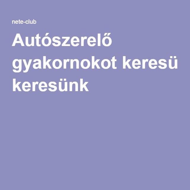 Autószerelő gyakornokot keresünk