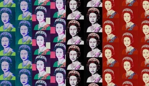 'Andy Warhol x Flavor Paper Queen Elizabeth Wallpaper on EZ Papes by Flavor Paper. @2Modern'